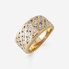 An eighteen karat gold and diamond ring,