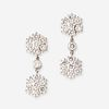 A pair of diamond and platinum earrings,