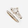 A diamond solitaire with band,