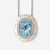A topaz, enamel, diamond, and eighteen karat white gold necklace, Favero,