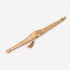 A fourteen karat gold covered bracelet wristwatch,