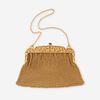 A fourteen karat gold mesh purse,