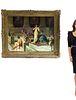 Guglielmo Zocchi Large Orientalist Oil/Canvas, 19th C.