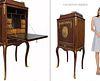 19th C French VACHETTE FRERES Bronze Secretaire Cabinet