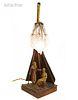 The Harem, Austrian Orientalist Bronze Figurines Lamp