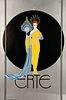 Goddess in Yellow, Large ERTE Lithograph Poster, 1982