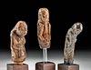Three 19th C. Indonesian Wood Figural Kris Handles
