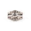 14K White Gold Diamond Wedding Set Ring