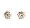 14K Gold & OMC Diamond Stud Earrings