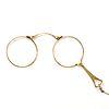 14K Gold Lorgnette Folding Opera Glasses