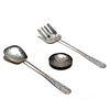 Navajo Silver Salad Set & Trinket Dish - 5.83 Troy oz.