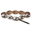 Navajo Silver Concha Leather Belt