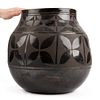 Large Santo Domingo Blackware Pot Aguilar