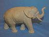 ANTIQUE CARVED BONE ELEPHANT