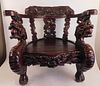 JAPANESE DRAGON THRONE CHAIR
