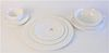 Spode Porcelain 135 Piece Dinnerware Set, pattern 'Savoy White,' to include 33 dinner plates, 10 tea cups, 16 soup bowls, along with several other pie
