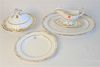 """Twenty Piece Lot of Spode """"Sheffield"""" Dinnerware, to include 16 dinner plates; 2 covered serving dishes; a large serving tray; along with a gravy boat"""