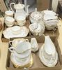 """Three Tray Lots of Spode Porcelain, to include 2 incomplete tea services in """"Sheffield"""", along with another in gold rim pattern."""