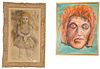 """Group of Three Framed Nathan Reich Portraits, each acrylic on Masonite, each signed, largest 30"""" x 24""""."""