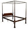Kindel Custom Mahogany Four Post Canopy Bed, queen size, height 86 inches.