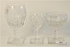 """Set of Hawkes Cut Crystal Stems, 57 pieces, along with tall stems; 64 total pieces, heights 6 1/4"""", 4 3/4"""" and 5""""."""