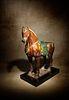 ASancai Glazed Pottery Figure of a Standing Horse