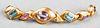 Angela Cummings 18K & Multi-Gem Set Link Bracelet