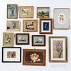 Thirteen Framed Works of Art