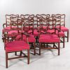 Set of Ten Chippendale-style Dining Chairs,made by Alan Breed, Salmon Falls, Maine, late 20th century