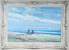 LATE 20TH C. BEACH SCENE SIGNED 'ANDRE'