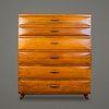 Cajonera alta en madera de caoba / Mahogany tall chest with drawers