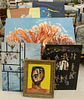 """Six Nathaniel Reich, oil on board, signed N.E. Reich; largest 48"""" x 30""""."""