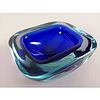 Botanero de cristal de Murano sommerso azul cobalto / Cobalt sommerso Murano glass bowl