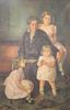 """Gertrude McKim Whiting (American, 1898 - 1981), portrait of a mother and three daughters, oil on canvas, signed lower right: Gertrude Whiting, 62 1/4"""""""
