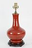 Chinese Oxblood Porcelain Lamp