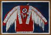 "Theodore B. Villa Mixed Media ""Native American Ceremonial Dress Shirt"""