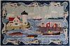 "Vintage Claire Murray Hooked Rug, ""Coastal Fisherman"""
