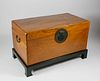 Chinese Export Camphorwood Trunk and Stand