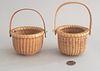 Two Henry Huyser Nantucket Swing Handle Baskets