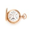 B. HAAS, 18K YELLOW GOLD PERPETUAL CALENDAR, MOON PHASE, MINUTE REPEATER HUNTER CASE POCKET WATCH