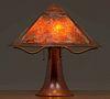 Dirk van Erp Hammered Copper & Mica Lamp c1911-1912