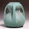 Massive Teco Pottery #287A Double-Gourd Matte Green