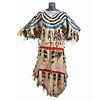Blackfeet Beaded Hide Dress, Collected by U.S. Special Agent Johnson N. High (1842-1909)