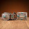 Fred Peshlakai (Dine, 1896-1974) Silver and Turquoise Concha Belt