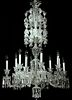 Baccarat Diamants Carres Signed Crystal Chandelier