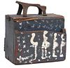 Purvis Young Vintage Painted Shoe Shine Box