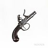 Steel Turn-off Barrel Flintlock Pocket Pistol