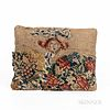 Early Linsey-Woolsey Pillow with Needlepoint Decoration