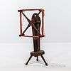 Red-painted Yarn Winder