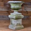 Cast Stone Urn on Stand